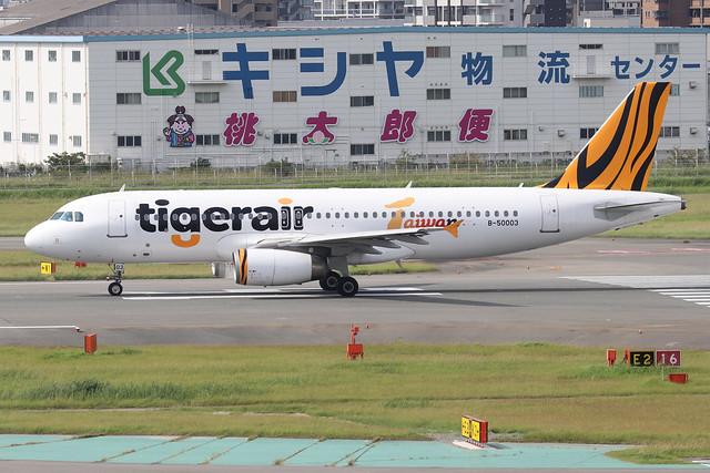 B-50003  -  Airbus A320-232  -  Tigerair Taiwan -  FUK/RJFF 7/10/19