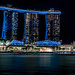 Panoramic view of Marina Bay Sand