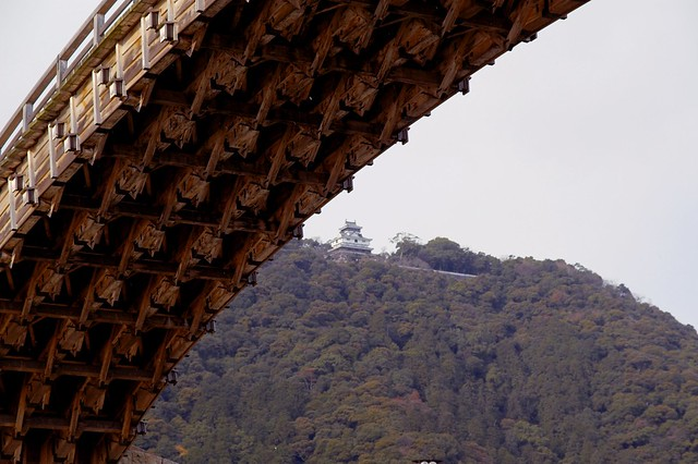Kintai bridge with Iwakuni castle 🏯