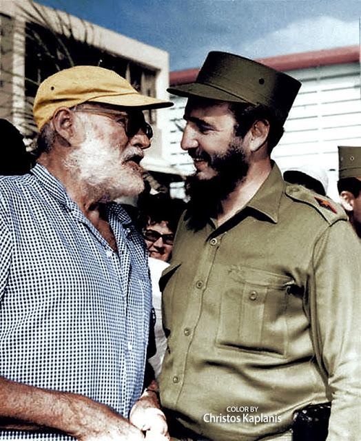 Ernest Hemingway and Fidel Castro, 1959.