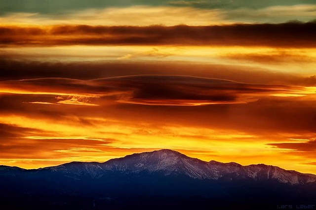 Spring Sunset in Colorful Colorado