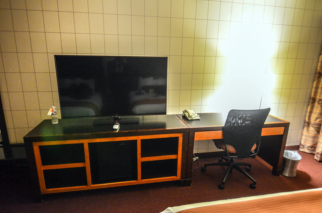 Red Lion desk and TV