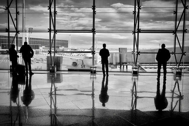 WHEN THERE WERE STILL PEOPLE AT THE AIRPORT...
