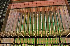 One World Trade Center Entrance at Night Freedom Tower WTC Skyscraper Lower Manhattan New York City NY P00480 DSC_0170