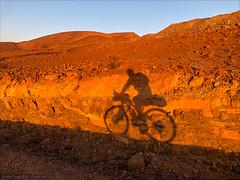 Sunrise Shadow Cyclist