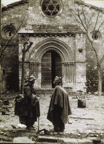 Imagen de la Guerra Civil española en Brihuega, concretamente la iglesia de San Felipe