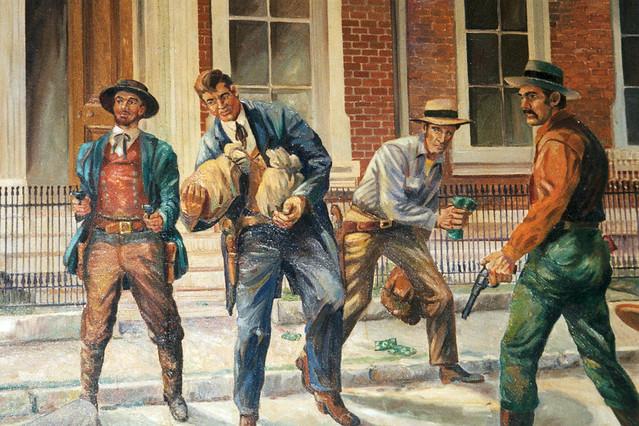 Russelville Kentucky - Jesse James Mural - Branch Banking and Trust  - Film 35mm   -  Miranda Camera