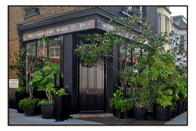 OLD SHOPFRONT FOR WESTMINSTER WINE & CO LTD