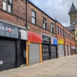 Closed shops on Fishergate, Preston