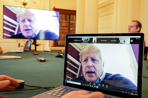 Boris Johnson chairs the morning Covid-19 Meeting