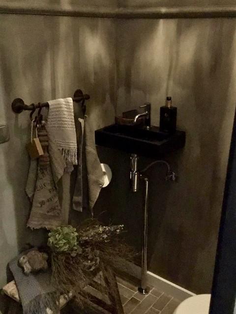 Waaltjes toilet beugel muur handdoek landelijk