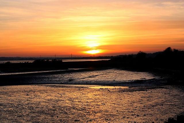 Sundown at Stutton Mill Suffolk