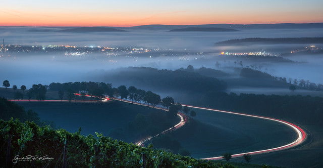 Foggy morning in the South Eifel