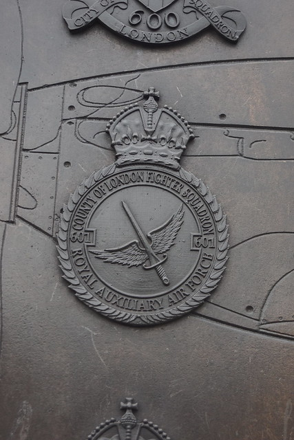 601 County of London Fighter Squadron, Royal Auxiliary Air Force, Battle of Britain Memorial, Paul Day (Sculptor), Victoria Embankment, City of Westminster, London, SW1A 2JL