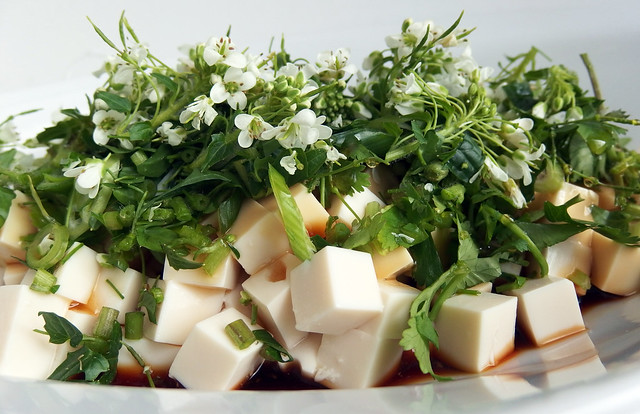 Silken tofu Salad with Hana Wasabi