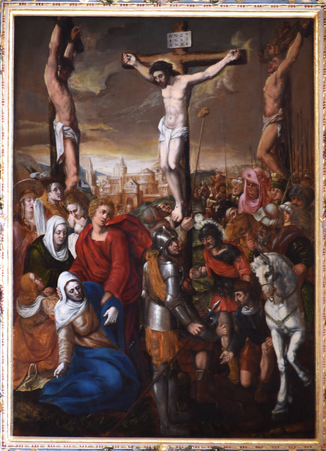 Celle, Niedersachsen, Stadtkirche St. Marien, altar, painted passion scene