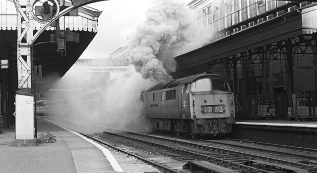The result of a Class 47 falure Exeter 1975