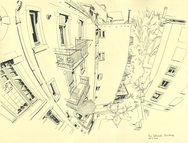 Vue de mon balcon, à Strasbourg