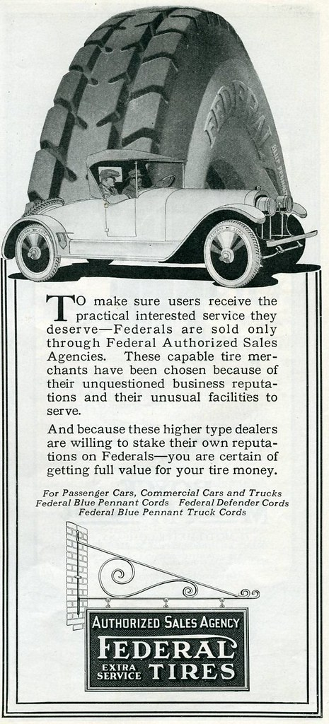 Federal Tires 1922