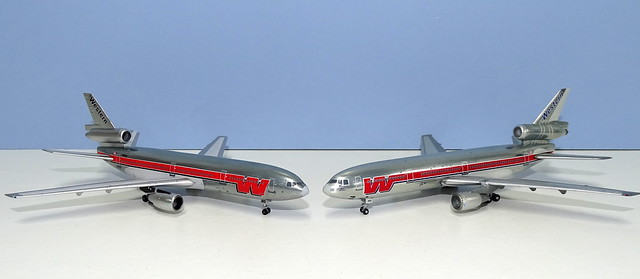 Western Airlines McDonnell Douglas DC-10-10s Compared