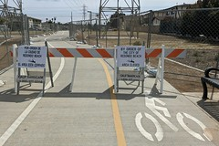 Bike Path Closed on Account of Virus