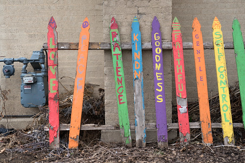 Painted fence posts in Minneapolis, Minnesota | by Lorie Shaull