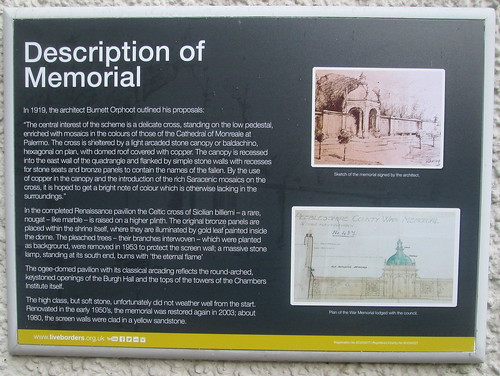 Peebles War Memorial Information Board