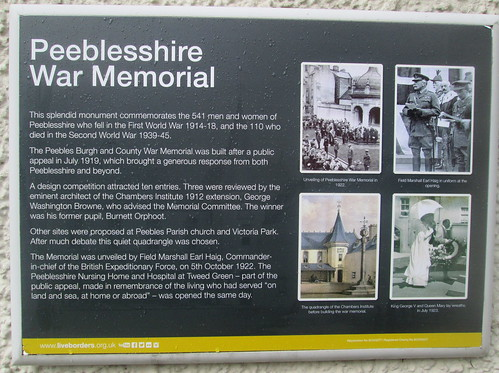 Information Board Peeblesshire War Memorial 3