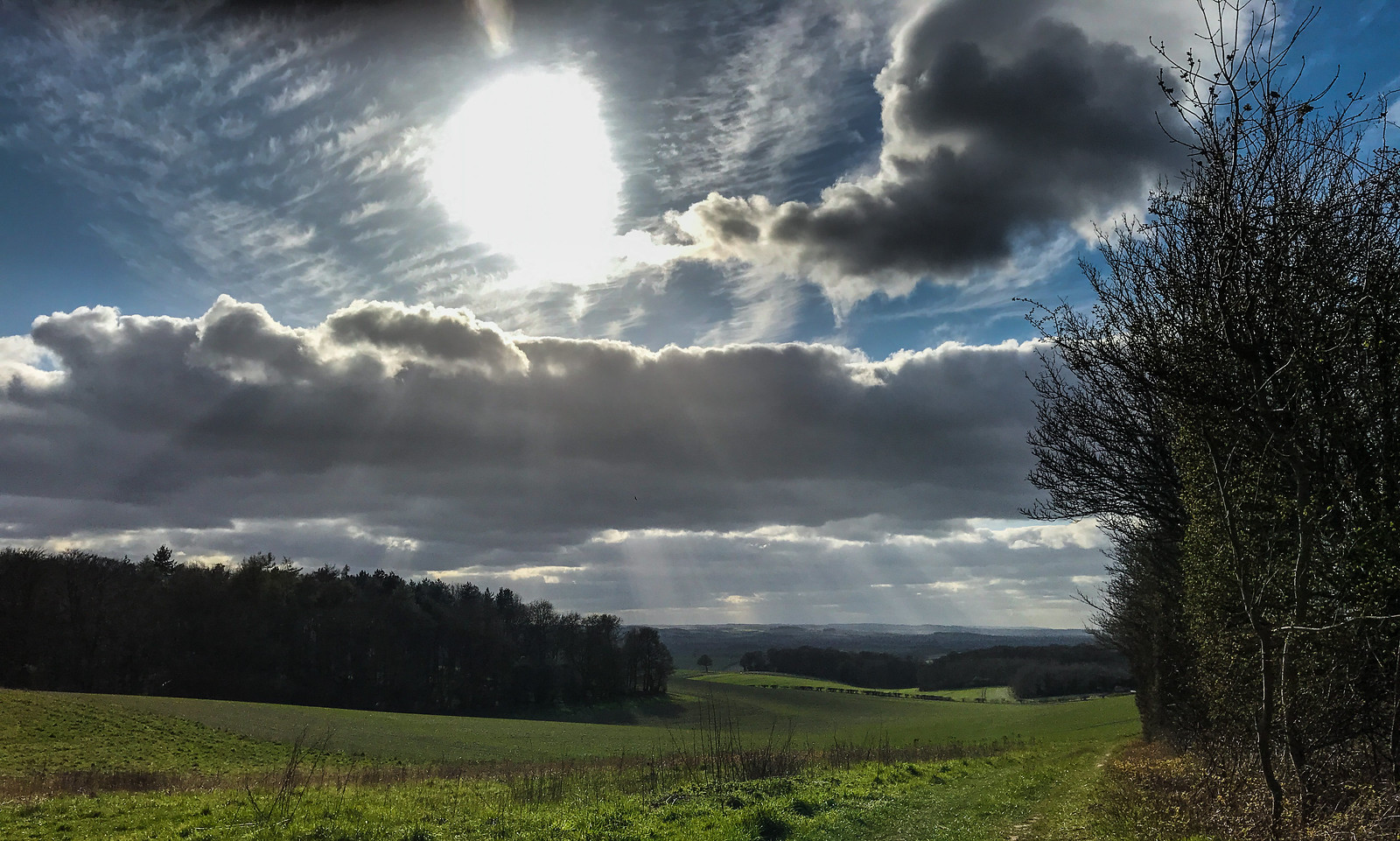 Sky from the ridgeway