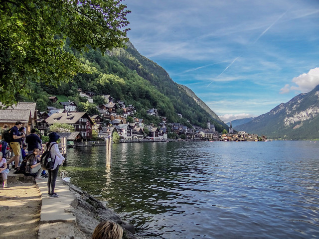 Viewing from the distant the Hallstatt village.