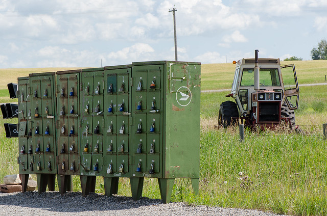 Mailboxes and Tractor