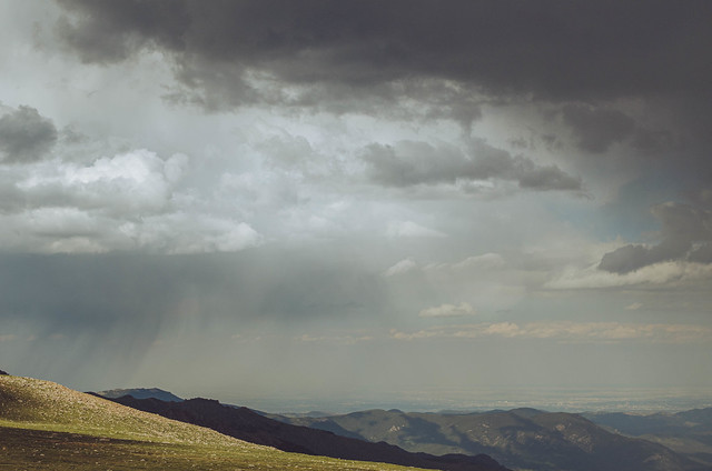 Rain east of Mount Evans. Colorado. 2016.