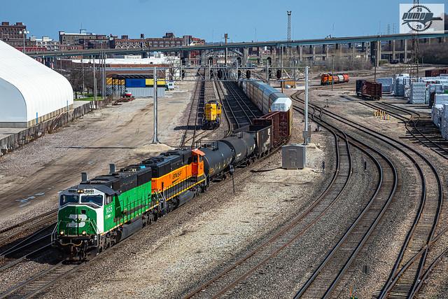 Southbound NS Manifest Train at Kansas City, MO