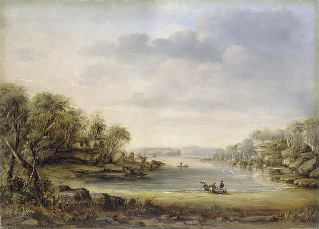 Parsley Bay, Sydney, ca. 1845 , oil painting, GE Peacock