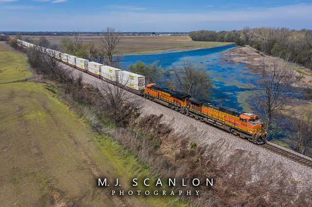 BNSF 5258 | GE C44-9W | BNSF Thayer South Subdivision