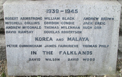 Other Wars Dedication, Kennoway War Memorial