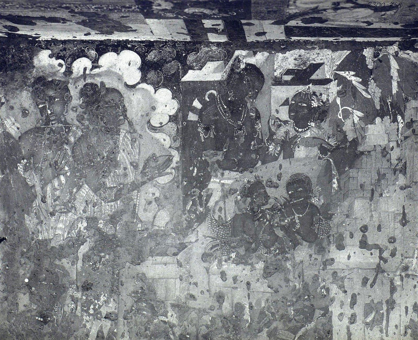 Аджанта (фрагмент фрески во второй пещере) (5)