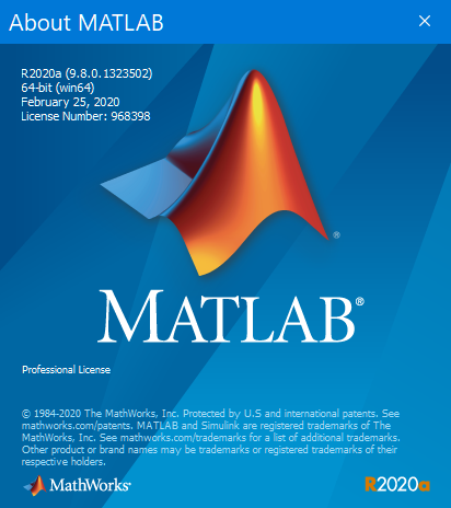 Mathworks Matlab R2020a x64 full license