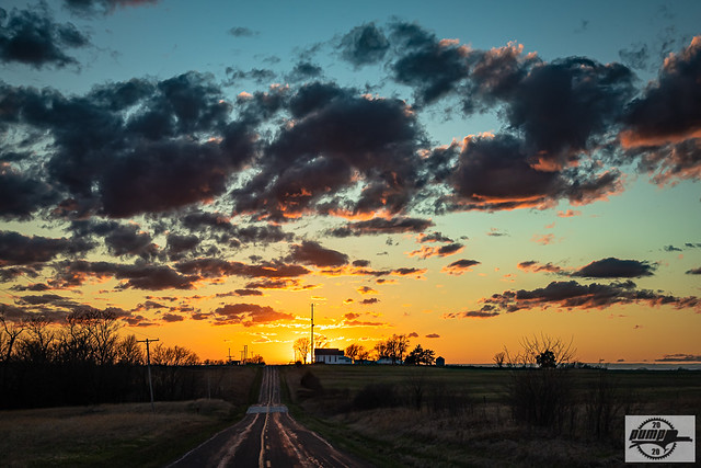 Spring Sunset at Mendon, MO-HDR