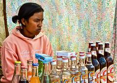 Madagascar - Bières, rhum et Coca-Cola au marché d' Ambatolampy.