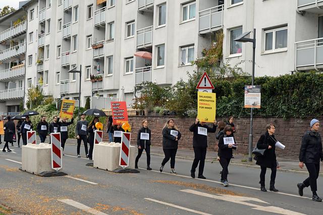 Demonstration against modern slavery