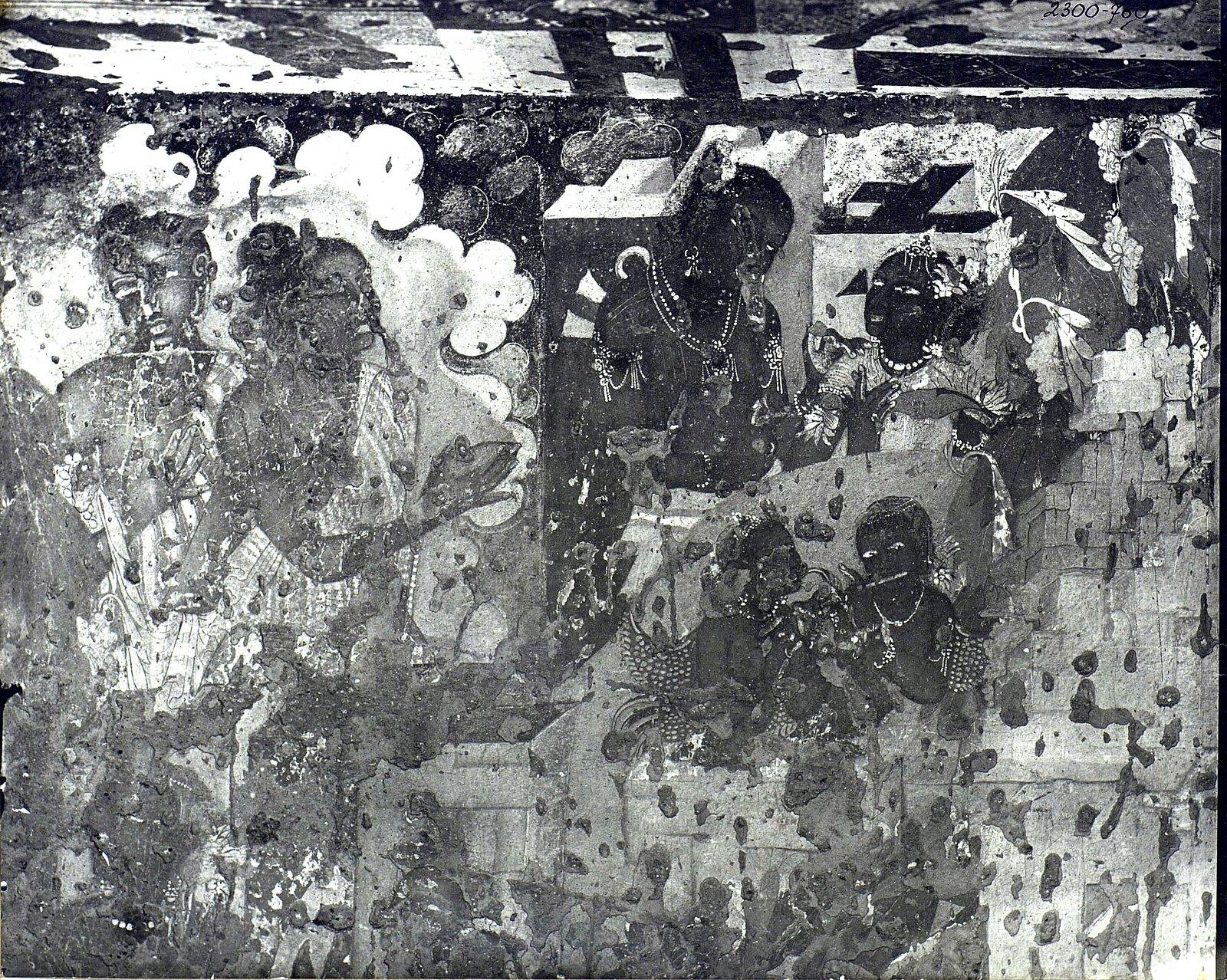 Аджанта (фрагмент фрески во второй пещере) (10)