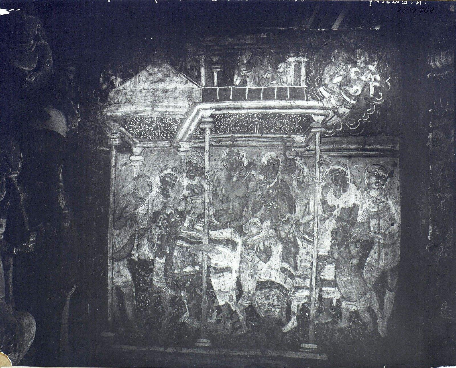 Аджанта (фрагмент фрески во второй пещере) (6)