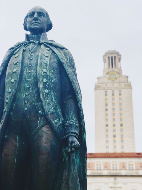 George Washington & University of Texas Tower iPhone shot