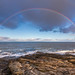 Rainbow, Northumberland coast