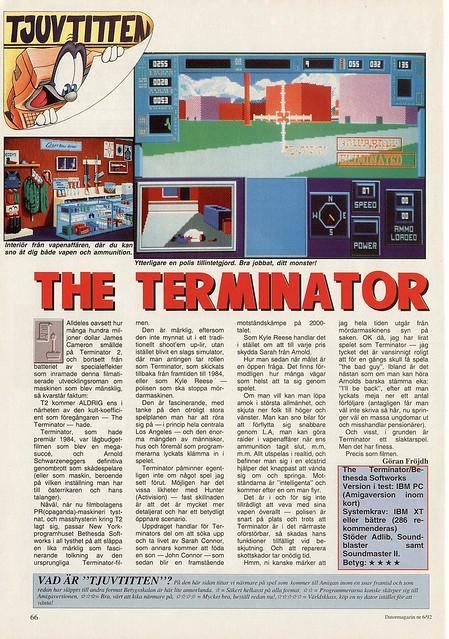 Terminator 1991 Datormagazin 1992 Swedish