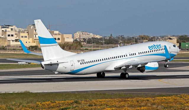 SP-ESE LMML 16-03-2020 Enter Air Boeing 737-8Q8 CN 30688