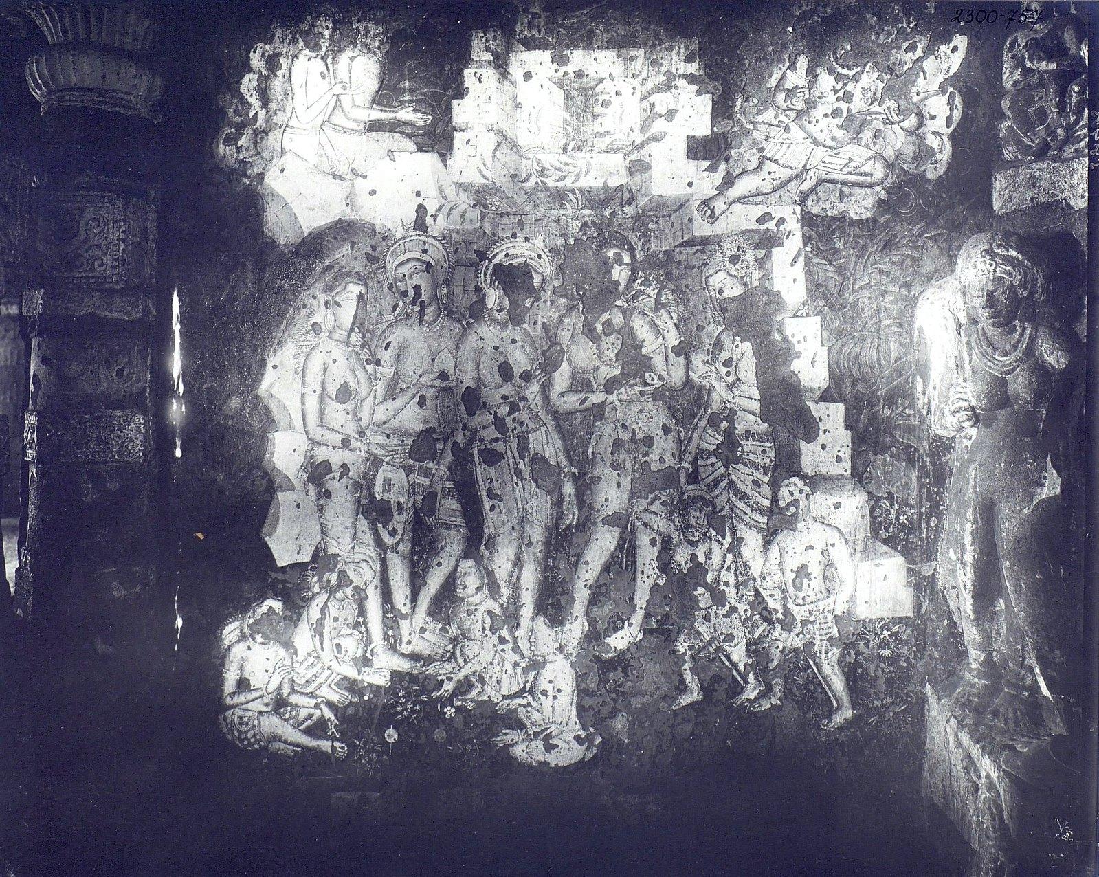 Аджанта (фрагмент фрески во второй пещере) (13)