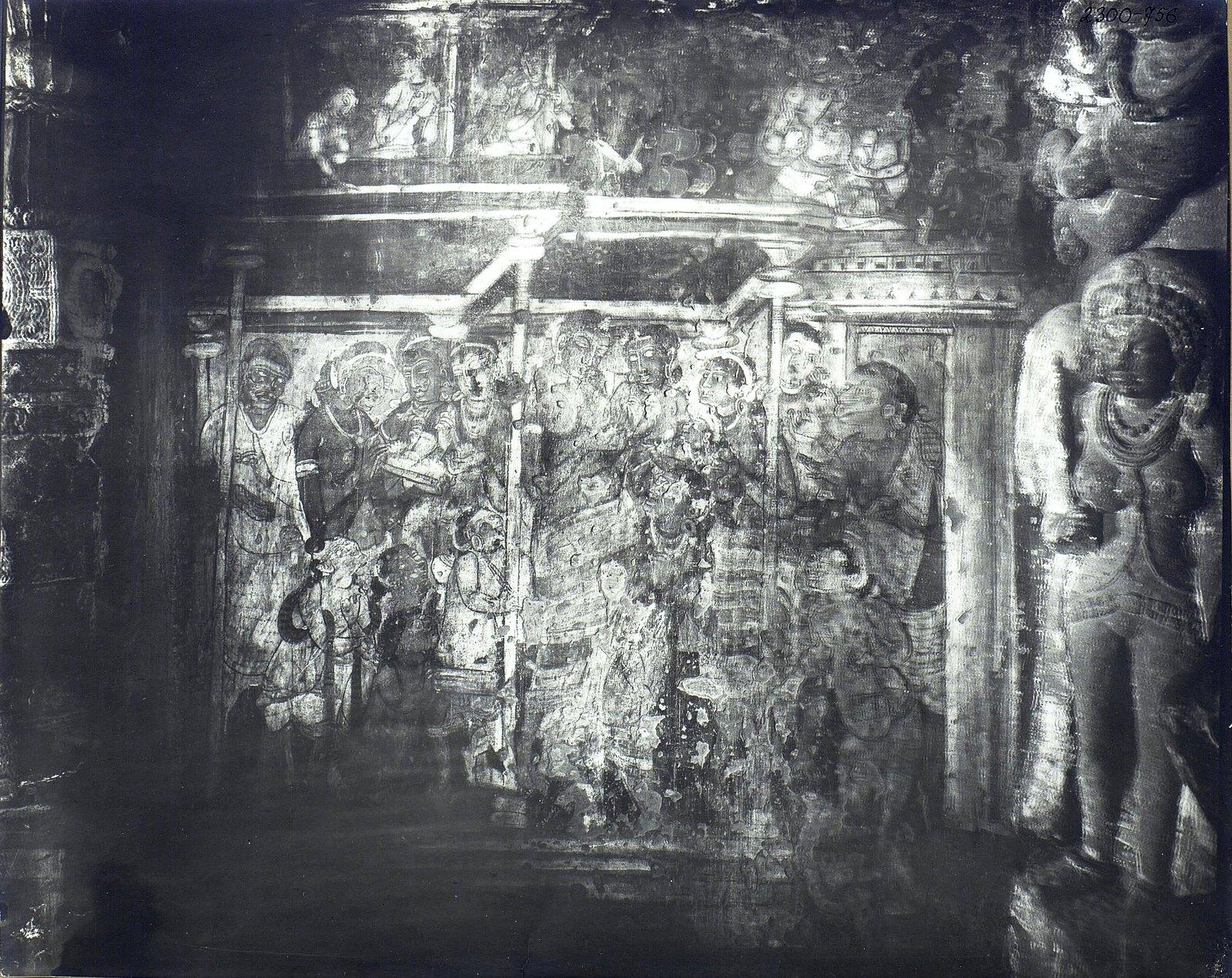 Аджанта (фрагмент фрески во второй пещере) (11)