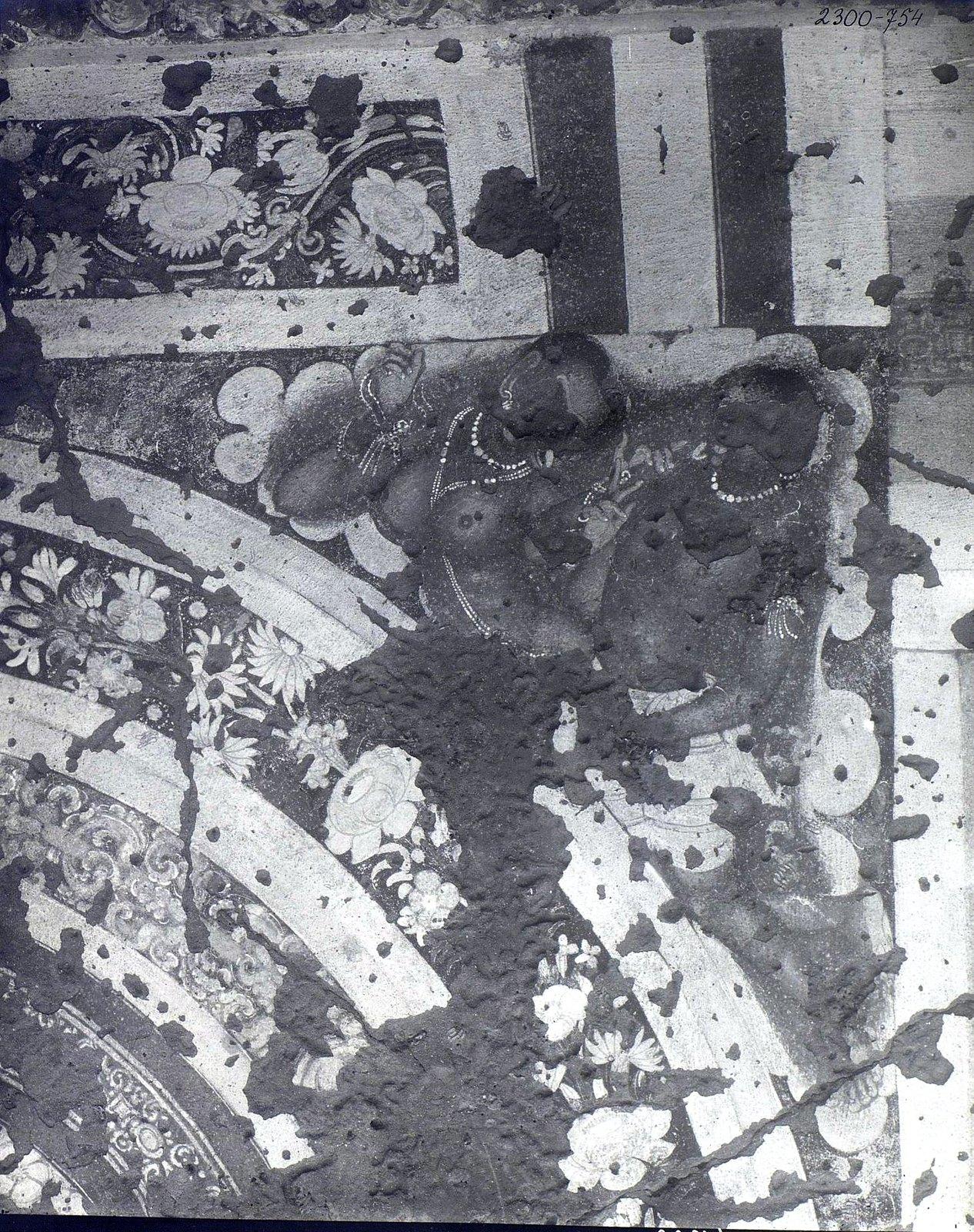 Аджанта (фрагмент фрески во второй пещере) (8)